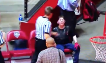New Mexico Fan Goes Ballistic, Curses At Refs & Opposing Coach After Game (VIDEO)