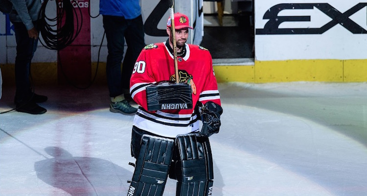 Blackhawks Emergency Backup Goali Scott Foster