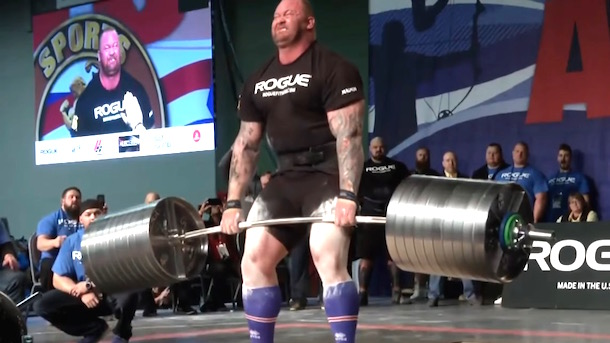 "The Mountain from ""Game of Thrones"" Set a New Deadlift World Record (Video)"