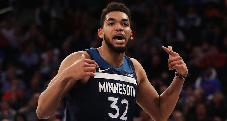 Karl-Anthony Towns scores Wolves franchise record 56 points to beat Hawks