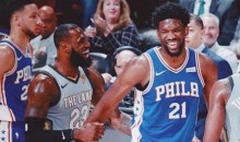 LeBron James and Joel Embiid Are BFFs Now, So Let the Free Agency Speculation Begin (VIDEOS)