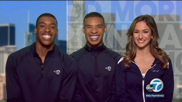 Los Angeles Rams' male cheerleaders make history