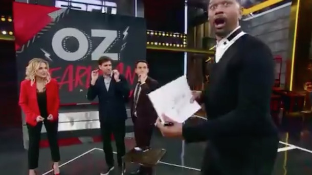 Mentalist Oz Pearlman Freaks Out Jalen Rose Michelle Beadle Mike Greenberg on ESPN Tournament Challenge