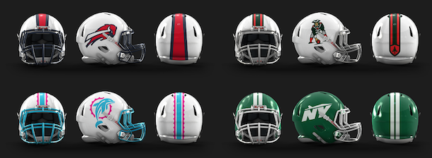 NFL Logo Redesign Mark Crosby AFC East Helmets
