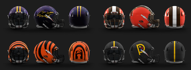 NFL Logo Redesign Mark Crosby AFC North Helmets