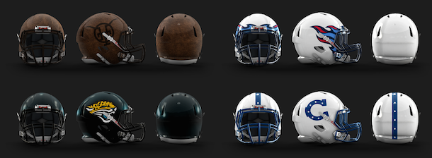 NFL Logo Redesign Mark Crosby AFC South Helmets