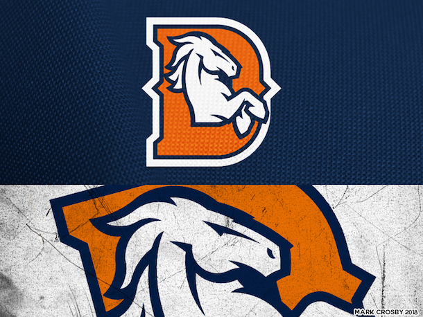 NFL Logo Redesign Mark Crosby Denver Broncos