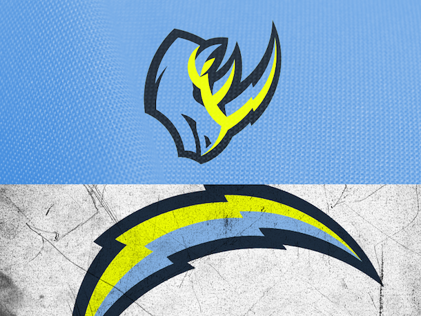 NFL Logo Redesign Mark Crosby Los Angeles Chargers