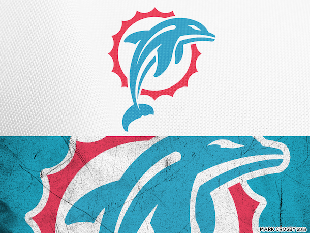 NFL Logo Redesign Mark Crosby Miami Dolphins