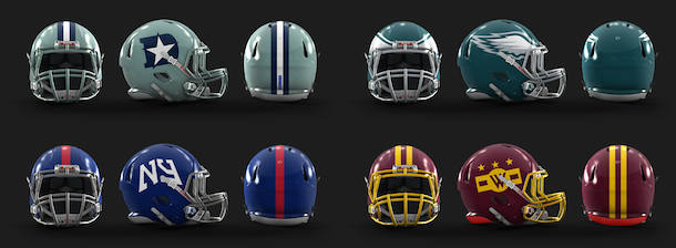 NFL Logo Redesign Mark Crosby NFC East Helmets
