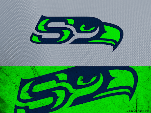 NFL Logo Redesign Mark Crosby Seattle Seahawks