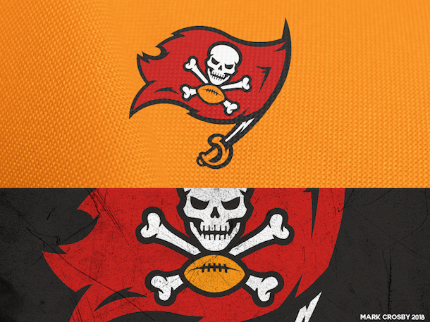 NFL Logo Redesign Mark Crosby Tampa Bay Buccaneers