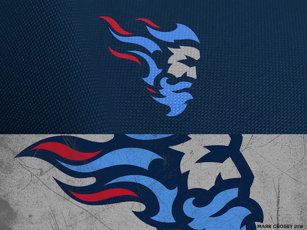 NFL Logo Redesign Mark Crosby Tennessee Titans