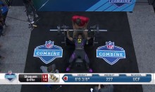 Watch UCF's Shaquem Griffin Bench Press 20 Reps of 225 lbs WITH ONE HAND At NFL Combine (VIDEO)