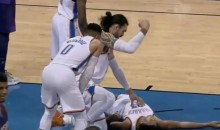 Terrance Ferguson Got Knocked Out After Head-To-Head Collision With Steven Adams (VIDEO)