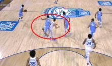 Grayson Allen Intentionally Sticks Butt Out To Hit Garrison Brooks And Make Him Fall (VIDEO)