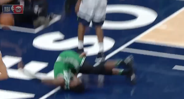 Jaylen Brown is doing 'OK' after frightening fall in Celtics-Timberwolves game