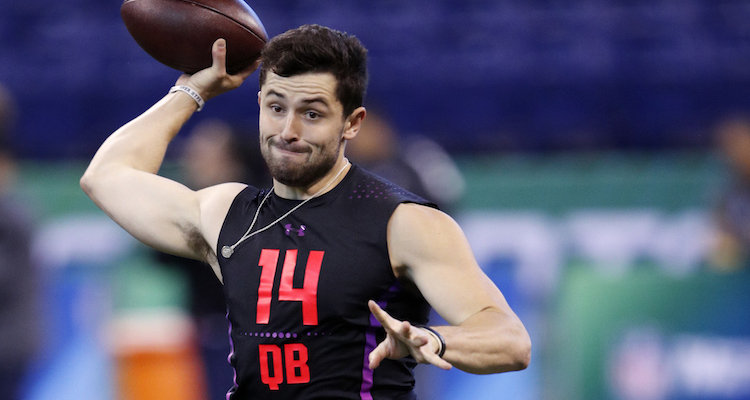 A psychic told Baker Mayfield he'll be drafted by the Cardinals