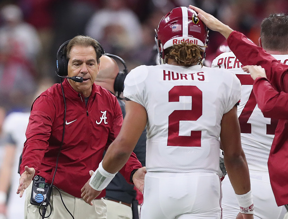 Hot mic appears to catch Nick Saban criticizing Jalen Hurts