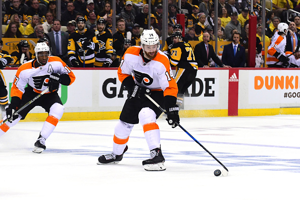 Flyers' Couturier played with torn MCL