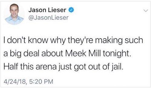 Heat Reporter Jason Lieser Controversial Meek Mill Tweet