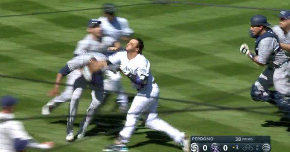 Nolan Arenado, Luis Perdomo spur wild basebrawl between Rockies and Padres