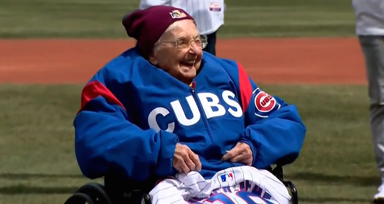 Sister Jean First Pitch Cubs Opener