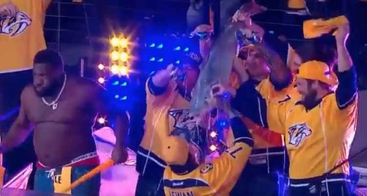 Predators fan Taylor Lewan still having fun with catfish and beers