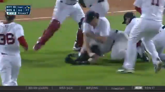 Total Pro Sports Yankees Red Sox Get Into Bench Clearing
