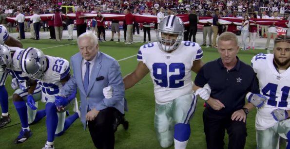Dallas Cowboys Kneel Jerry Jones