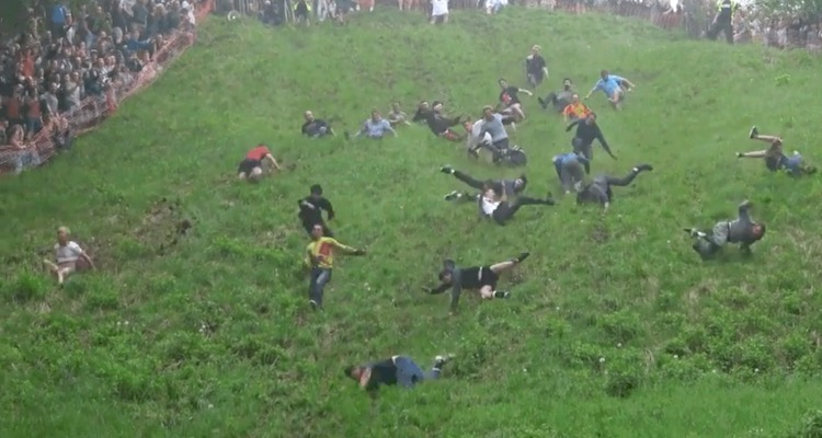 Gloucestershire Cheese Rolling Race