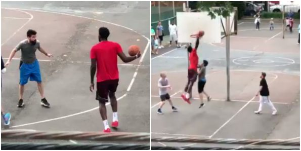 Sixer Joel Embiid shows no mercy during pickup games in South Philadelphia