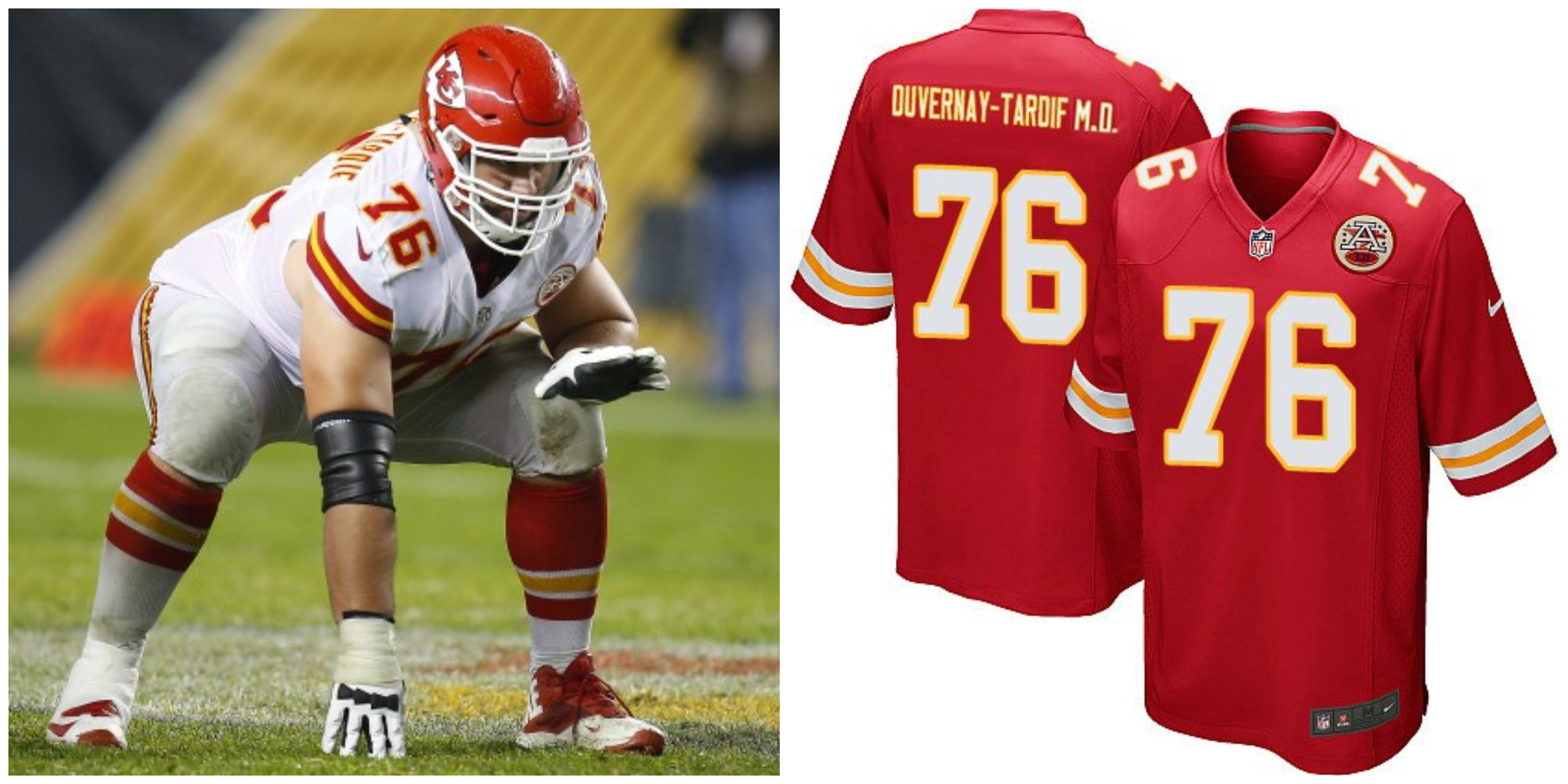 finest selection ff0e5 b941a REPORT: NFL Denies Laurent Duvernay-Tardif From Putting ...