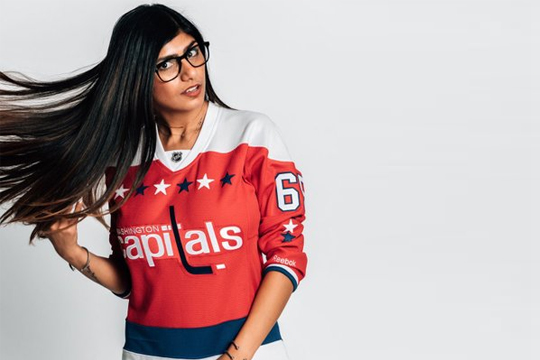 Ex-Porn Star Mia Khalifa Says She Got Blasted In Her Fake Boobs By A Puck At Capitals -5799