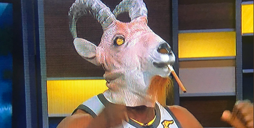 save off 7e169 d245a Shannon Sharpe Came Dressed in LeBron's Jersey With A GOAT ...
