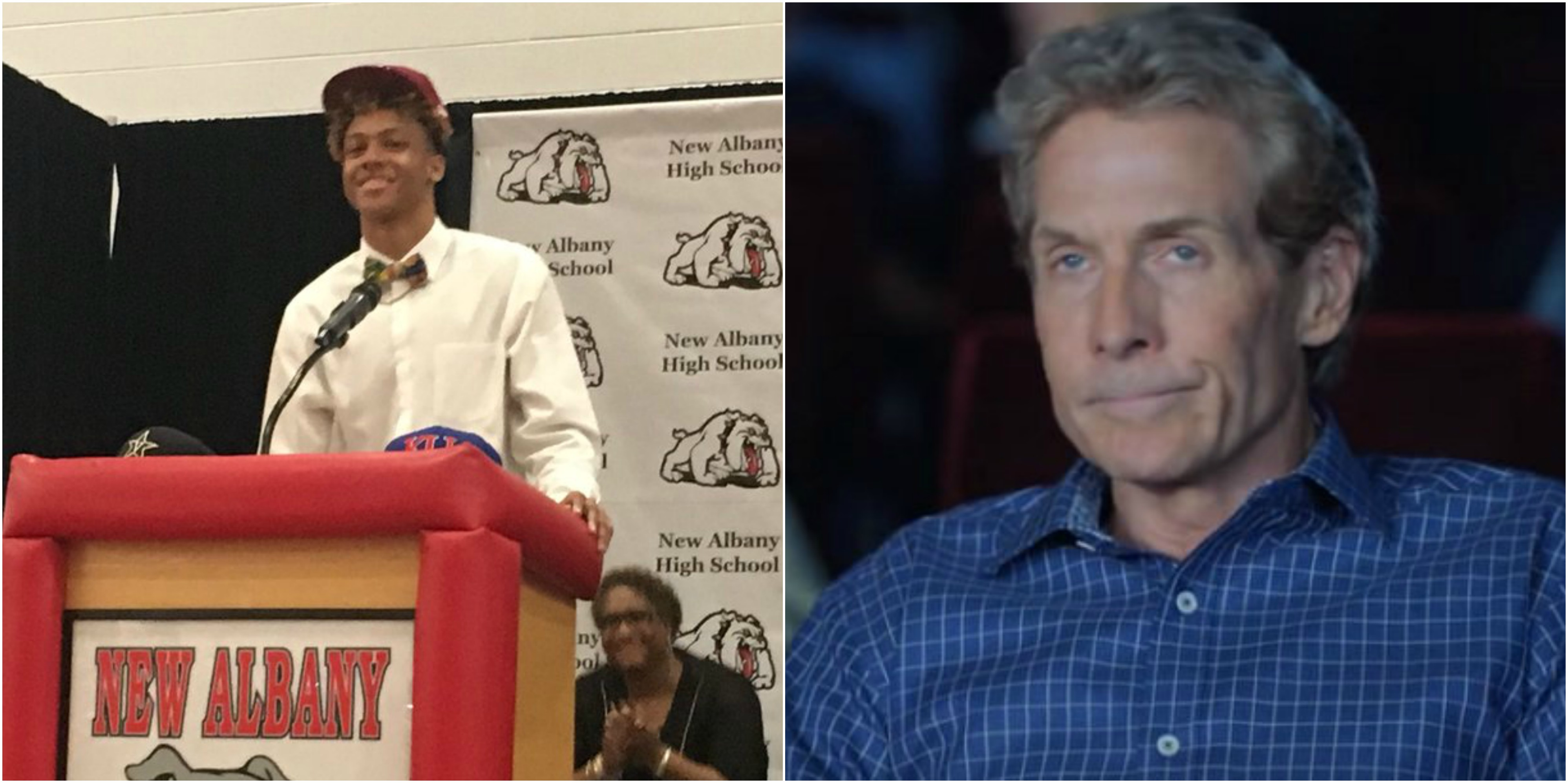 Total Pro Sports Skip Bayless Calls Out Teenager For ...
