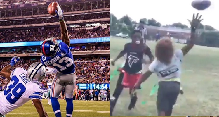 9-year-old football player makes odell beckham like catch