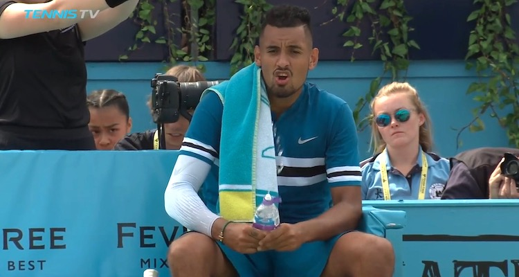 Nick Kyrgios Masturbates Water Bottle