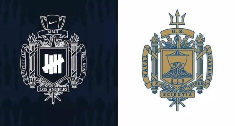 Nike The Fives vs USNA crest