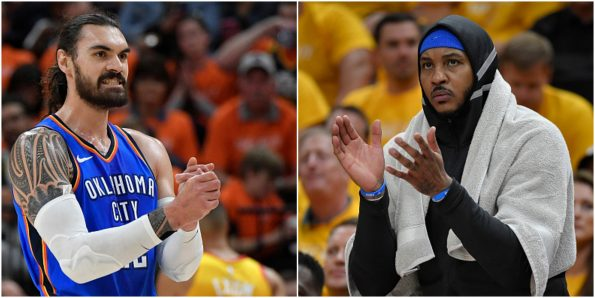 Steven Adams Says Liking IG Comment Roasting Carmelo Anthony Was an Accident