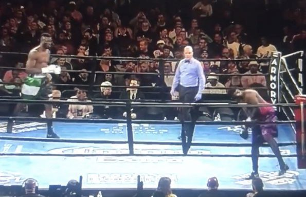 Boxer walked away without throwing a punch over pay dispute