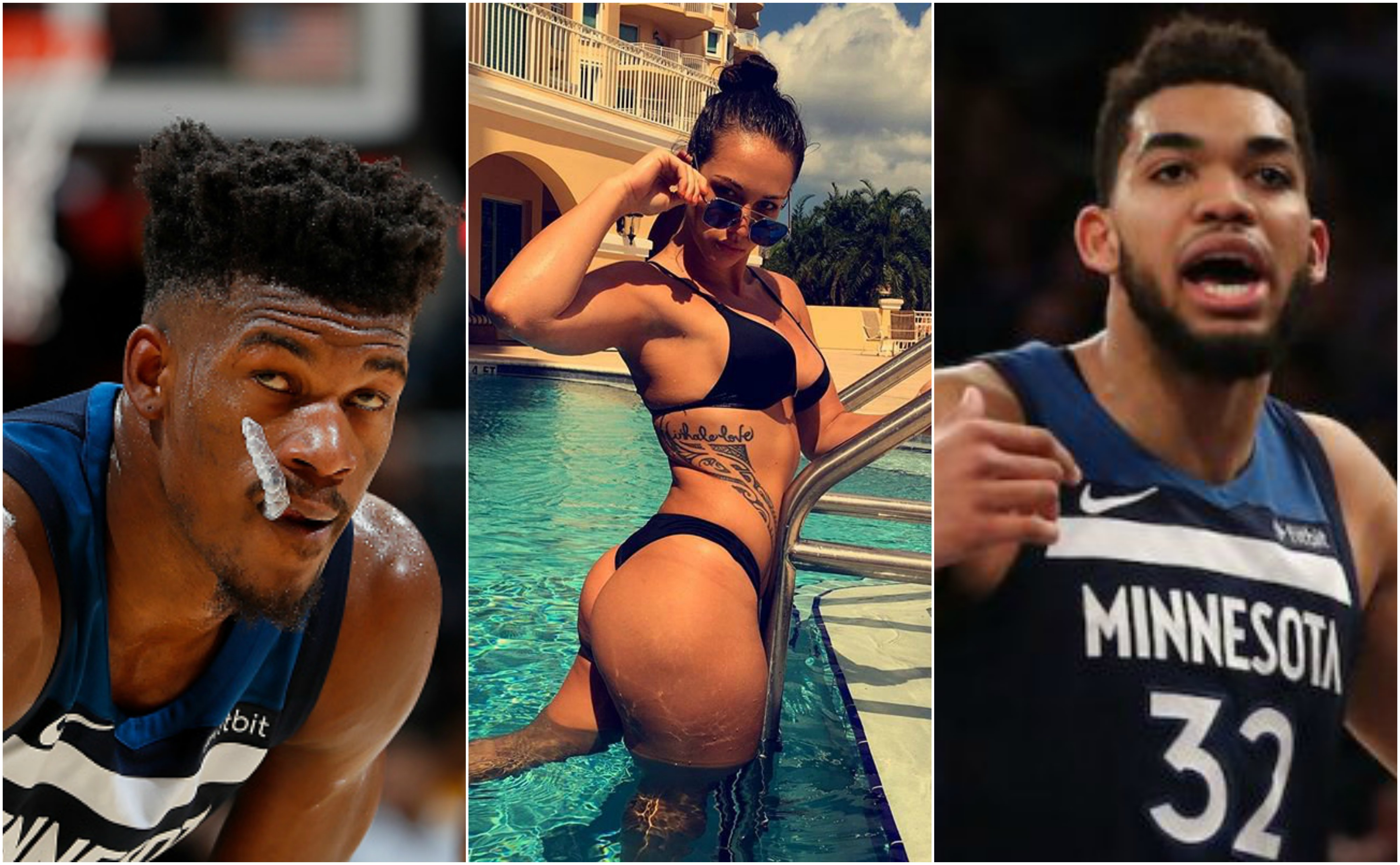 Rumor Jimmy Butler Slept With Karl Anthony Towns Gf Which Caused Their Breakup Request For Trade Tweets Total Pro Sports