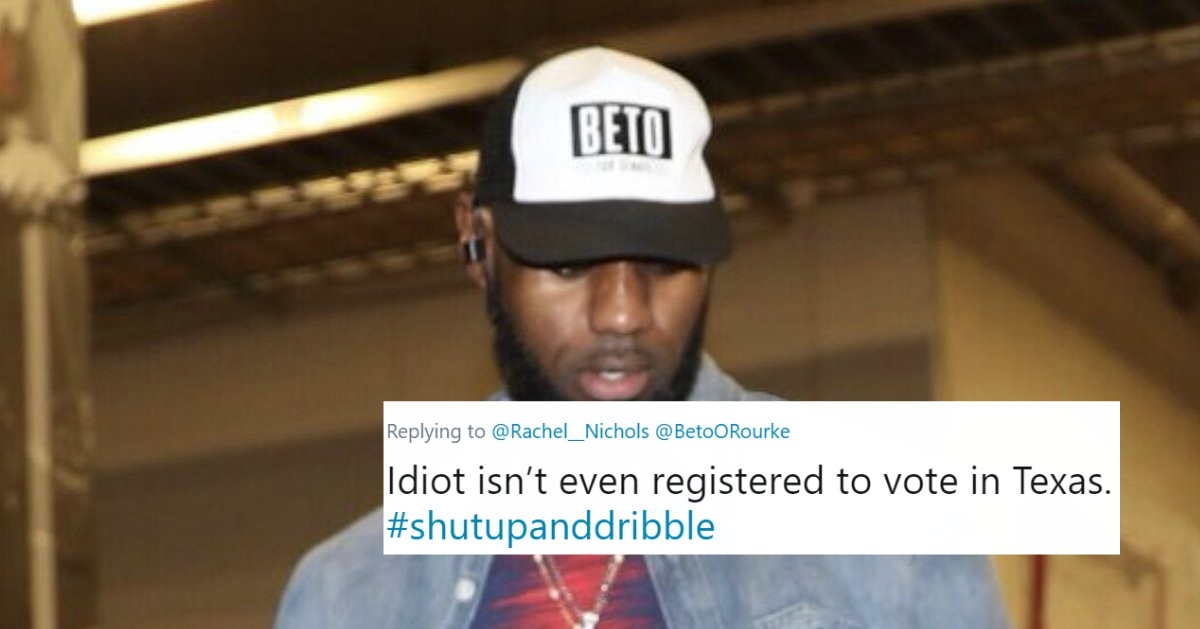2f2b290eb3e3 LeBron Gets Ripped For Wearing Beto O Rourke Hat Before Lakers-Spurs Game  (TWEETS)