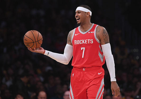 Rockets and Carmelo Anthony 'discussing' veteran's status going forward this season