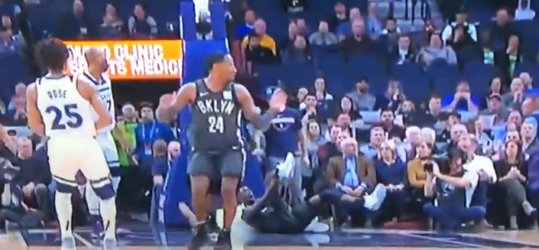 brand new f1337 71340 Brooklyn Nets' Caris LeVert Shatters His Ankle During Game ...