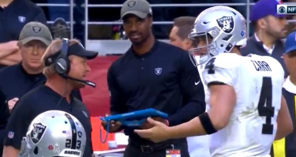 Derek Carr, Jon Gruden argue on Raiders sideline