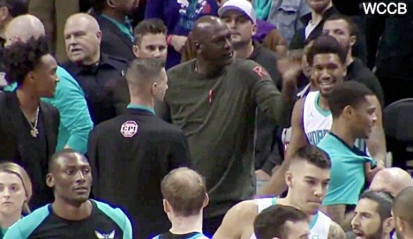 Michael Jordan slaps Malik Monk on Hornets bench after late-game tech