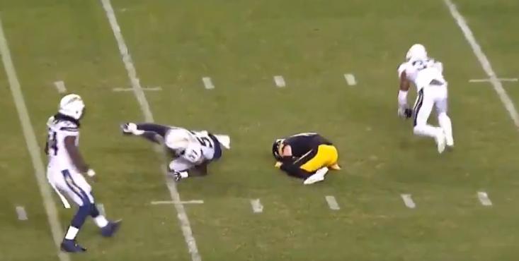 Steelers Ryan Switzer Got Absolutely Folded Like A Lawn