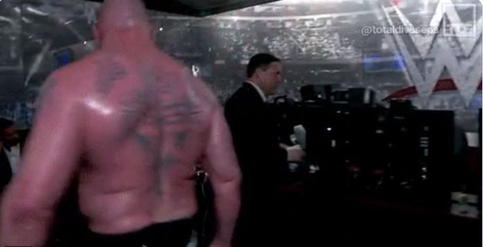 Old Footage Shows Brock Lesnar Throwing Universal Title At ...