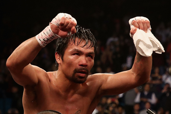 Manny Pacquiao meets Steph Curry, Floyd Mayweather Jr. in LA